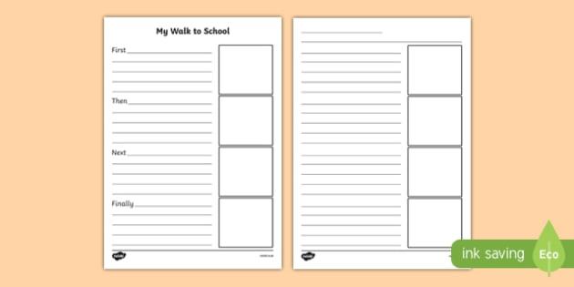 Walk to School Week Recount Writing Frames