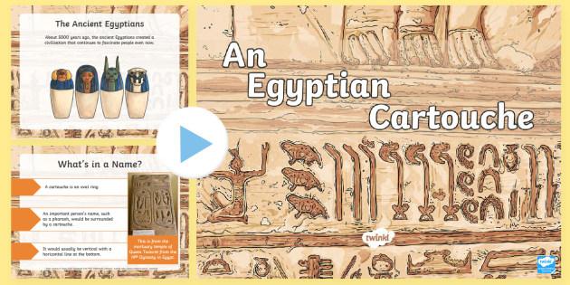 NEW * KS2 The Egyptian Cartouche PowerPoint - Ancient egypt