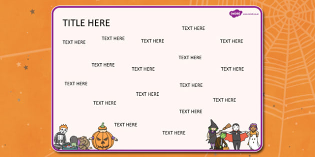 Halloween Themed Editable Word Mat - halloween, word mat, mat