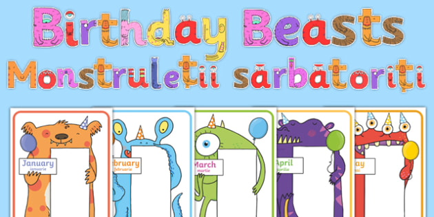 Birthday Beasts Display Pack Romanian Translation-Romanian-translation