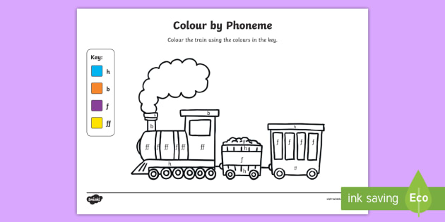 Colour by Phoneme Train Phase 2 h b f ff - colour, phonemes, train, phase 2, satpin