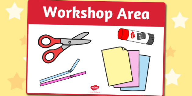 Workshop Area Sign - workshop, area, sign, display sign, display