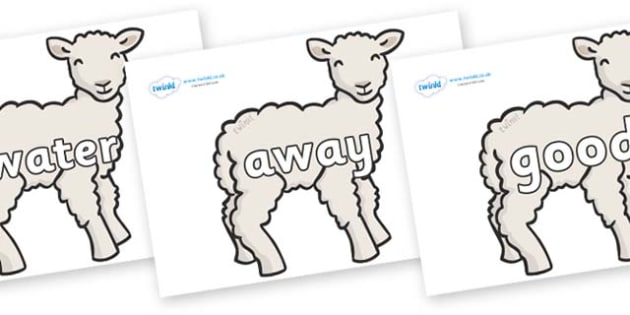 Next 200 Common Words on Lambs - Next 200 Common Words on  - DfES Letters and Sounds, Letters and Sounds, Letters and sounds words, Common words, 200 common words