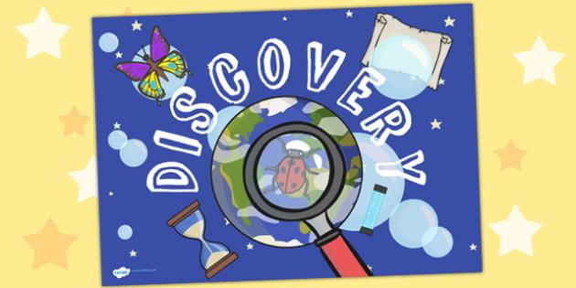 Discovery Area Sign - discovery area, discovery area sign, discovery poster, discovery sign, discovery area poster, discovery display poster