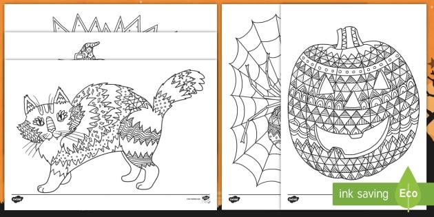 Halloween Pagini De Colorat Mindfulness Halloween