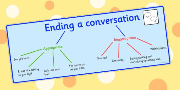 Ending A Conversation Visual Support - end, conversation, visual