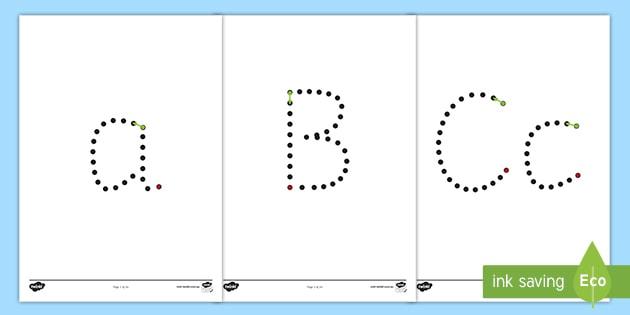 Alphabet Tracing Worksheets Foundation Printable