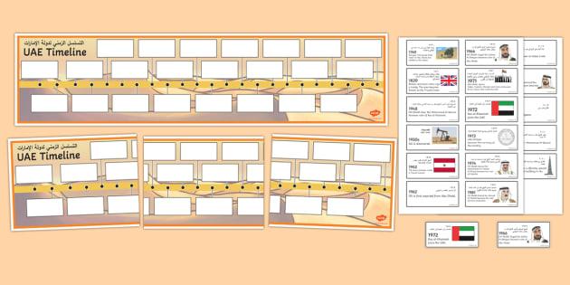 uae timeline worksheet activity sheets arabic english uae. Black Bedroom Furniture Sets. Home Design Ideas