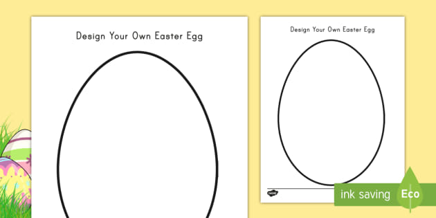 Design Your Own Easter Egg Activity Worksheet