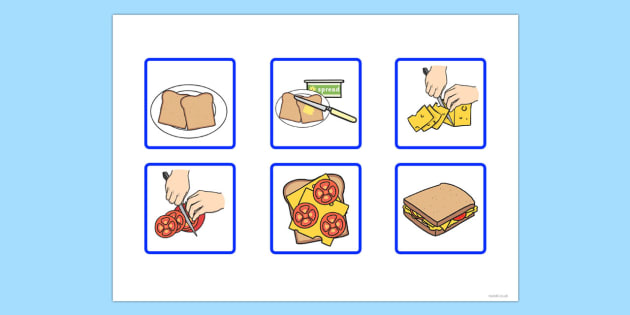 T S 1627 6 Step Sequencing Cards Making A Sandwich on Writing Activities For Kindergarten