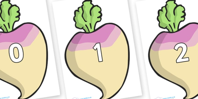 Numbers 0-100 on Turnips - 0-100, foundation stage numeracy, Number recognition, Number flashcards, counting, number frieze, Display numbers, number posters