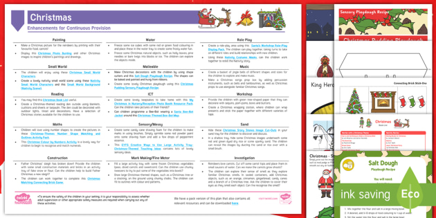 Christmas EYFS Continuous Provision Planning Ideas ...