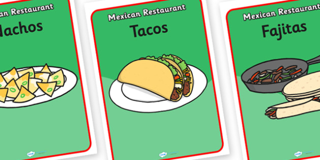 Mexican Restaurant Role Play Posters - mexican, restaurant, mexican restaurant, role play, posters, role play posters, display posters, display, poster