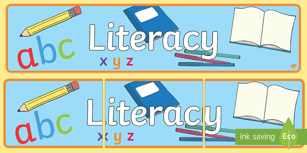 Eyfs Learning Areas Literacy Display Banner Literacy Banner