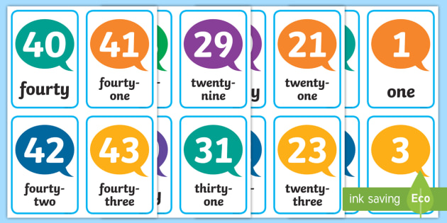 Number Flash Cards - numbers, number cards, flashcards, cards