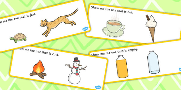'Show Me the...' Basic Concept Cards Activity - SEN, visual aid, concepts