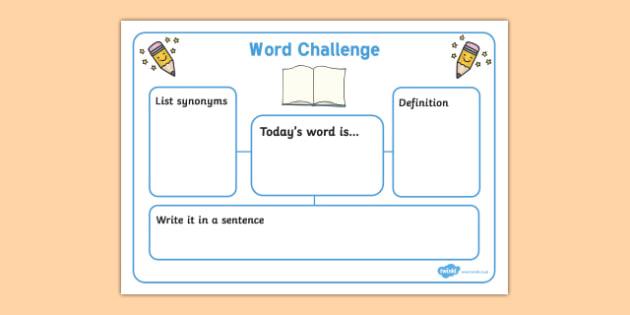 word challenge worksheets word challenge worksheets word challenge words. Black Bedroom Furniture Sets. Home Design Ideas