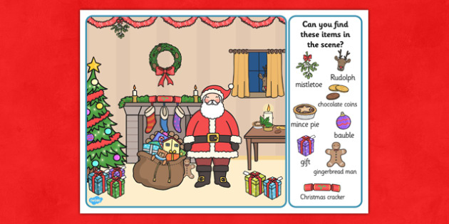 Christmas Picture Finding Activity - nz, new zealand, christmas, finding, activity, picture
