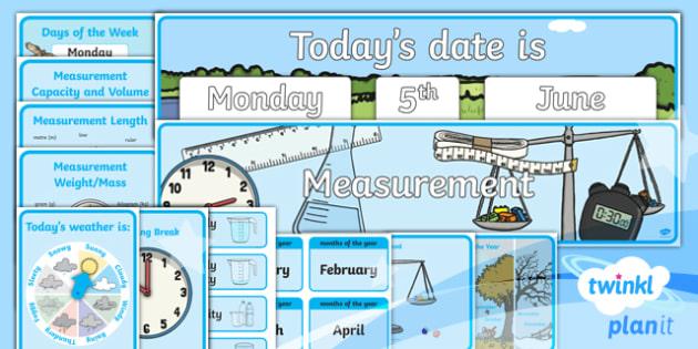 PlanIt Maths Y1 Measurement Display Pack