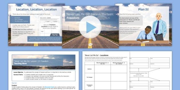 Never Let Me Go Lesson 13: Freedom Lesson Pack
