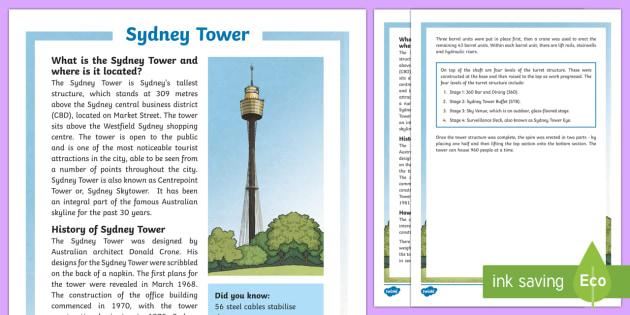 Sydney Tower Fact File-Australia - Sydney Australia, Sydney, Sydney Tower, landmark