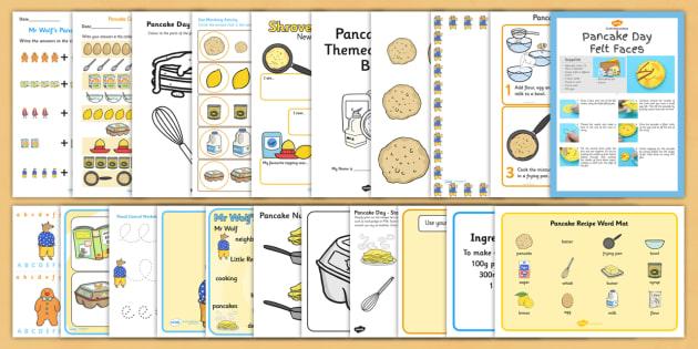 Pancake Day Resource Pack - pancake day, resource pack, resource, pack