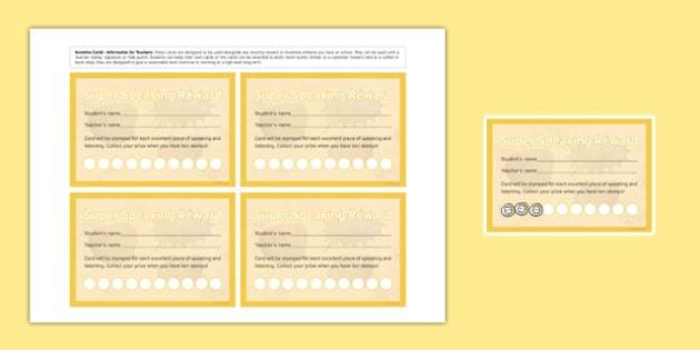 Incentive Stamp Cards Speaking - incentive stamp, cards, incentive, speaking