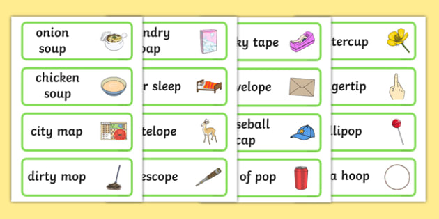 Three Syllable Final 'P' Word Cards - sounds, words, cards, word