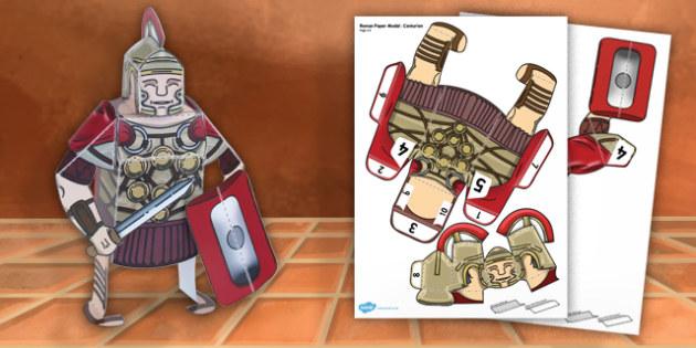 Ancient Rome Paper Model Centurion - paper model, centurion