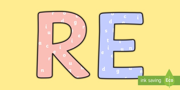 RE Title Pastel Display Lettering RE with Letters Title