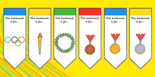 The Olympics Bookmarks - bookmarks, Olympics, Olympic Games, sports, Olympic, London, 2012, present, gift, book, reward, achievement, activity, Olympic torch, medal, Olympic Rings, mascots, flame, compete, events, tennis, athlete, swimming