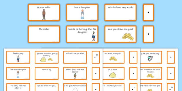 Rumpelstiltskin Sentence Building Cards - rumpelstiltskin, sentence, building cards, cards