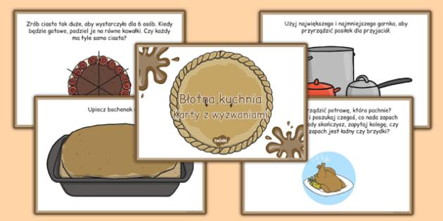 Karty z wyzwaniami Błotna kuchnia po polsku - przedszkole