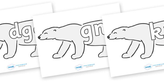 Silent Letters on Polar Bears - Silent Letters, silent letter, letter blend, consonant, consonants, digraph, trigraph, A-Z letters, literacy, alphabet, letters, alternative sounds