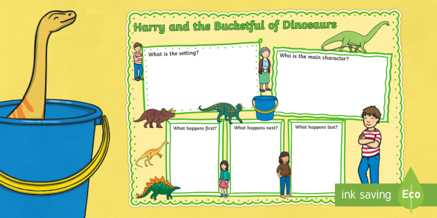 Book Review Writing Frame to Support Teaching on Harry and the Bucketful of Dinosaurs