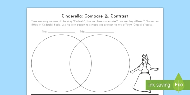 Cinderella: Compare and Contrast Worksheet / Activity Sheet