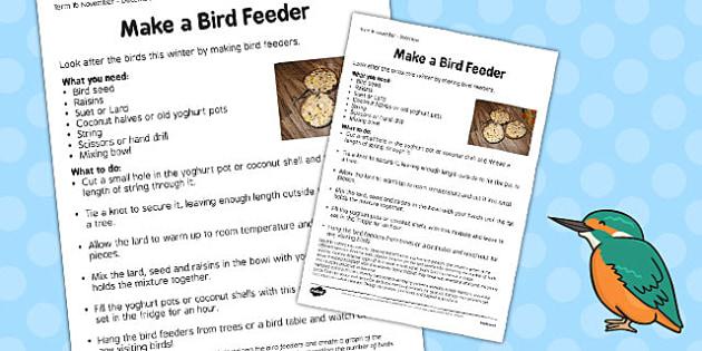 Bird Feeders Worksheet - bird feeders, worksheet, bird, feeder