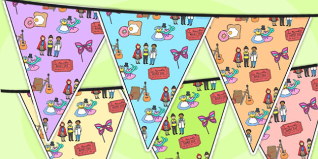 Role Play Area Themed Bunting - role play, classroom areas, areas