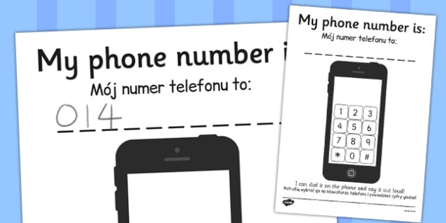 Phone Number Dialing Practice Sheet Polish Translation - early years, KS1, maths, numbers, recall, pd, fine motor skills