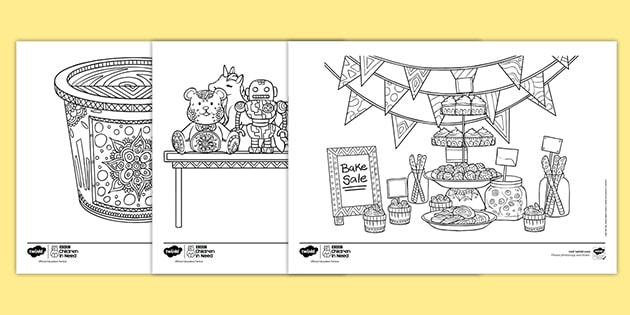 KS2 BBC Children in Need Mindfulness Colouring Pages
