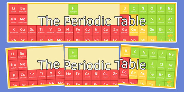 The Periodic Table Display Banner - display banner, display, banner, the periodic table