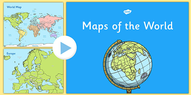 KS1 UK Europe and World Map Presentation - United Kingdom, maps, countries, country, geography