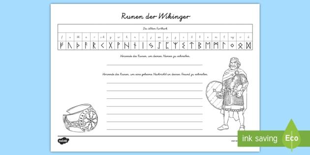 NEW * Die Runen der Wikinger Arbeitsblatt - Wikingerrunen