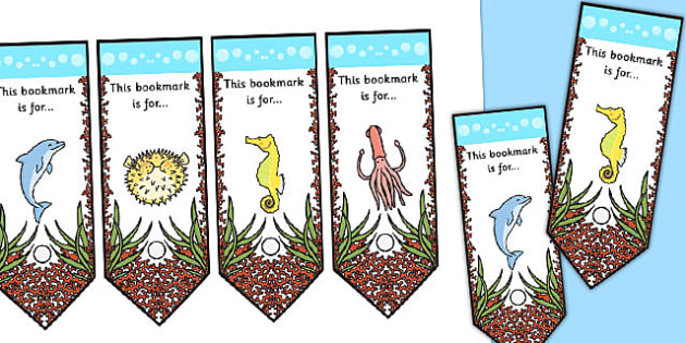 Great Barrier Reef Bookmarks - australia, barrier, reef, bookmark