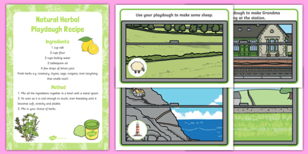 Trains Playdough Recipe and Mat Pack