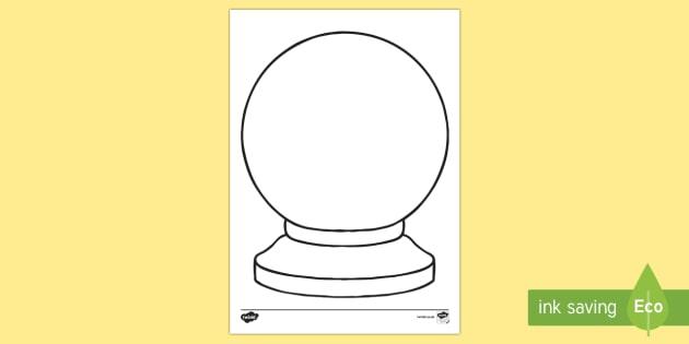 Doodle Draft Crystal Ball Activity Sheet-Irish - ROI, Ireland, doodle, draft, sketch, starter, creative, drawing, art, activity sheet,Irish, workshee