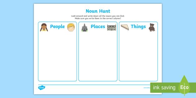 Noun Hunt Worksheets Ks1 Literacy Primary Resources Age 5 7