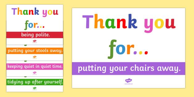 Thank You Poster Pack - thank you, poster, pack, display pack