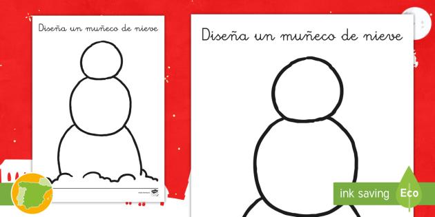 NEW * Ficha de actividad: Diseña un muñeco de nieve