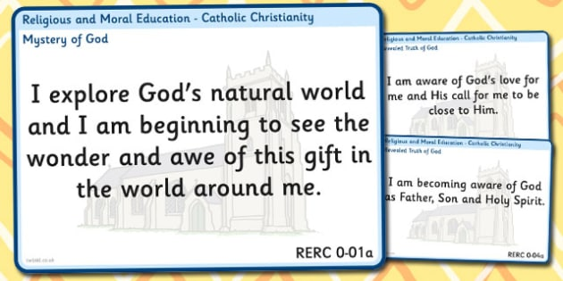 CfE Religious Moral Education Experiences Outcomes Display Early